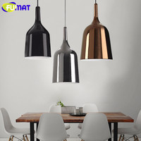 FUMAT Modern Creative Cup Light Fixtures Nordic Vintage Bar Dinning Pendant Lights Black White Gold Chrome
