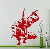 Spedizione Gratuita Deadpool Adesivo In Vinile Comics Super Hero Poster Wall Decal Rimovibile Home Decor Teenager Camera Creativo Arte Murale