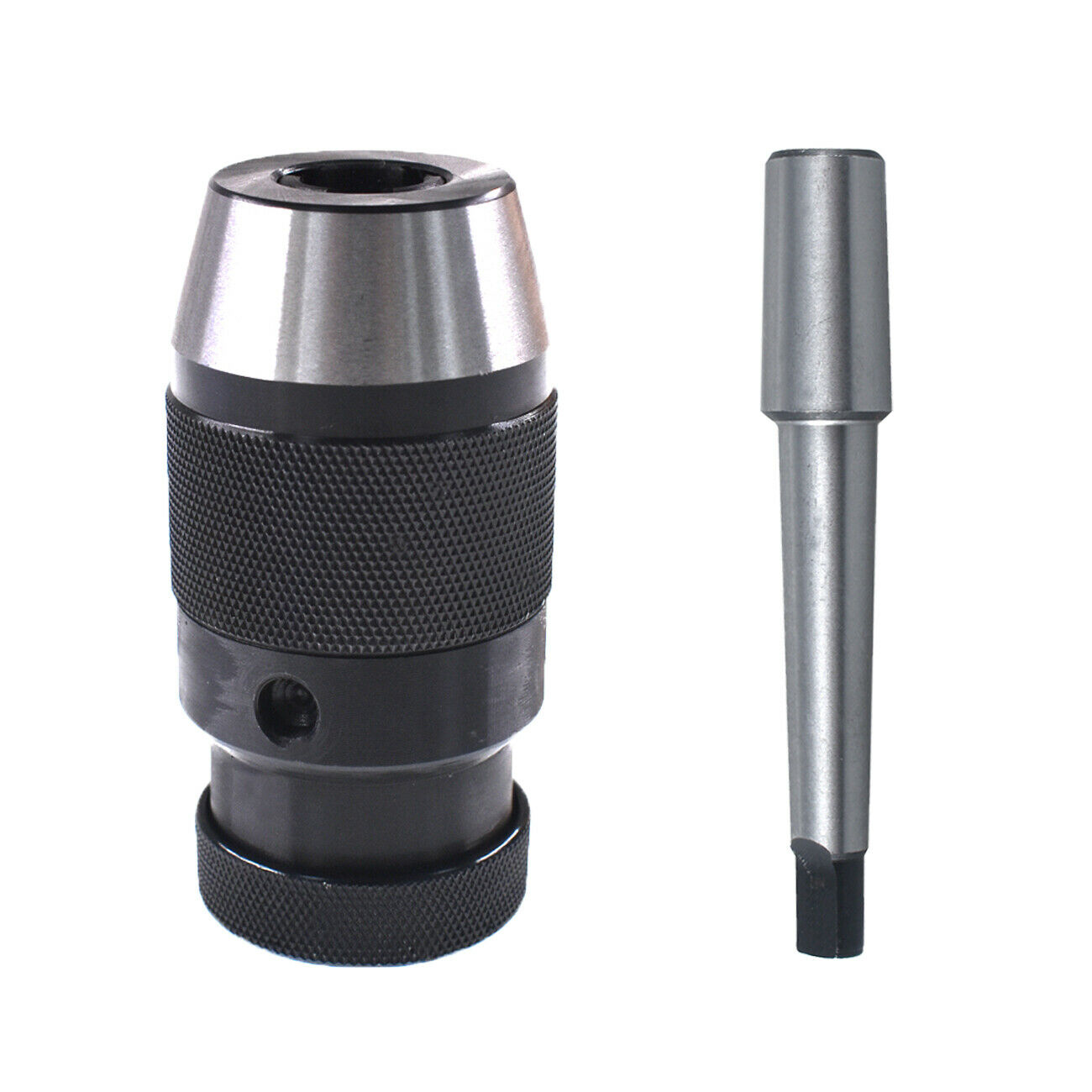 Machine Drill Chuck Keyless Replacement Morse Taper MT1-B16 Alloy+45 Steel Black+silver Lathes Boring Tools Milling