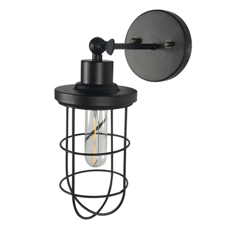 huge discount 66484 14e2f US $18.49 30% OFF|Retro Loft Nostalgic Wall Lamps Industrial Style  Warehouse Small Iron Cage Bar Table Birdcage Wall light Corridor Aisle  Lighting-in ...