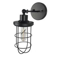 Retro Loft Nostalgic Wall Lamps Industrial Style Warehouse Small Iron Cage Bar Table Birdcage Wall light Corridor Aisle Lighting