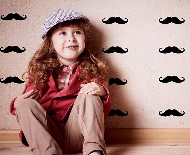 50 kosov otroška spalnica okrasite stenske nalepke Princess otroški - Dekor za dom