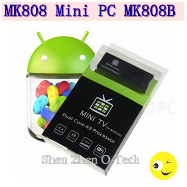MK808B Mini PC Aanroid TV dual core A9 Dual Core of updated version mk 808 IPTV Google Internet TV box Mini PC