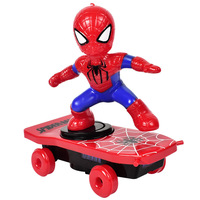 Spider Man Electronic Car Superhero Iron Man Scooter The Avengers Captain America Racing Electric Music Toys For Children Gifts