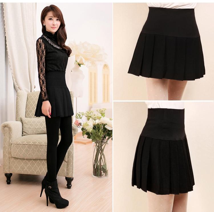 8733978d260 New Sexy Women Skirt Fashion Fall Winter Skirts Plus Size XL High Waist  Pleated Skirt Black Skater Skirt For Women NS1459-in Skirts from Women s  Clothing on ...