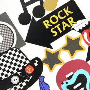Image 2 - Rock Thema Party Photo Booth Props 18 stk/set voor Verjaardag Feestartikelen Music Party Vibes Rock & Roll Concert Foto prop