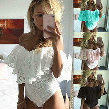 Fashion Casual Slim Solid Summer Women White Lace Sleeveless Swimsuit Swimming Bodycon Party Club Summer Beach Clothes 2019 hot fashion womens summer casual sleeveless strappy tank dress loose slim party club midi bodycon new