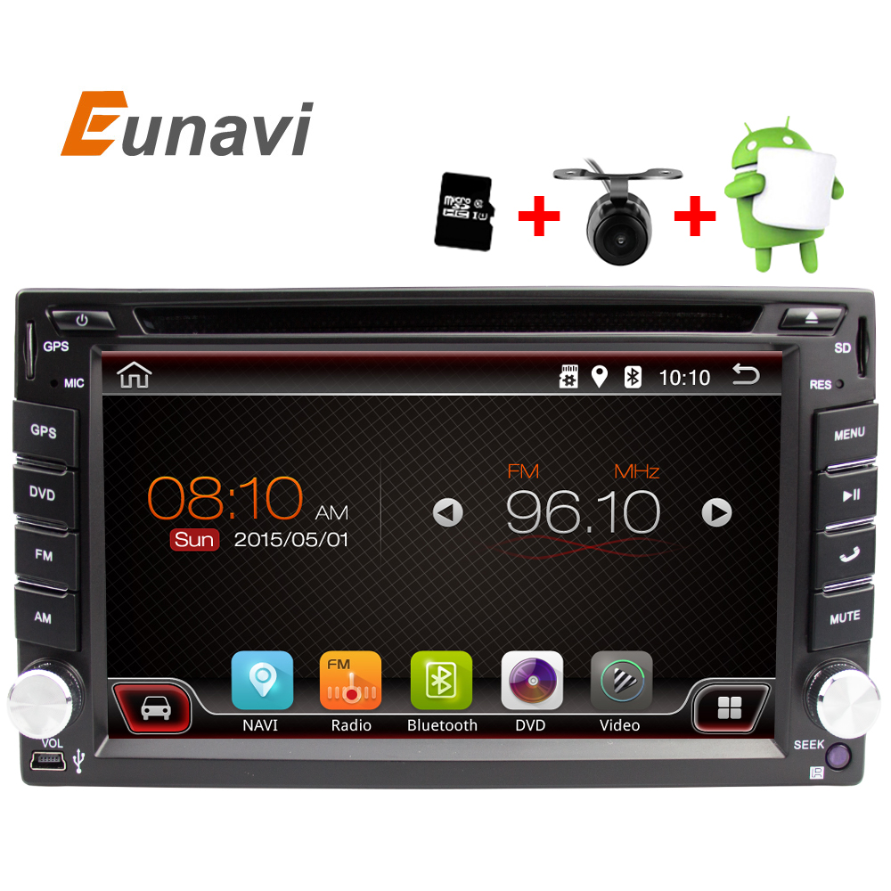 imágenes para Universal 2 din Android 6.0 Coches reproductor de DVD GPS + Wifi + Bluetooth + Radio + Quad Core + DDR3 + Pantalla Táctil capacitiva + pc del coche + aduio