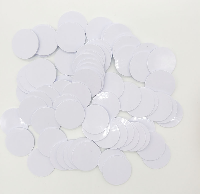 100pcs UID Coin Card  RFID Tag Keyfob Rewrite UID 13.56MHz Writable Mifa Block 0 HF ISO14443A Used To Copy Cards