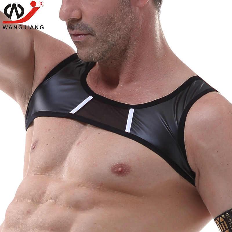 Homens sexy collants colete térmico gay roupa interior erótico sexy pênis jockstrap transparente cuecas corda homme g string