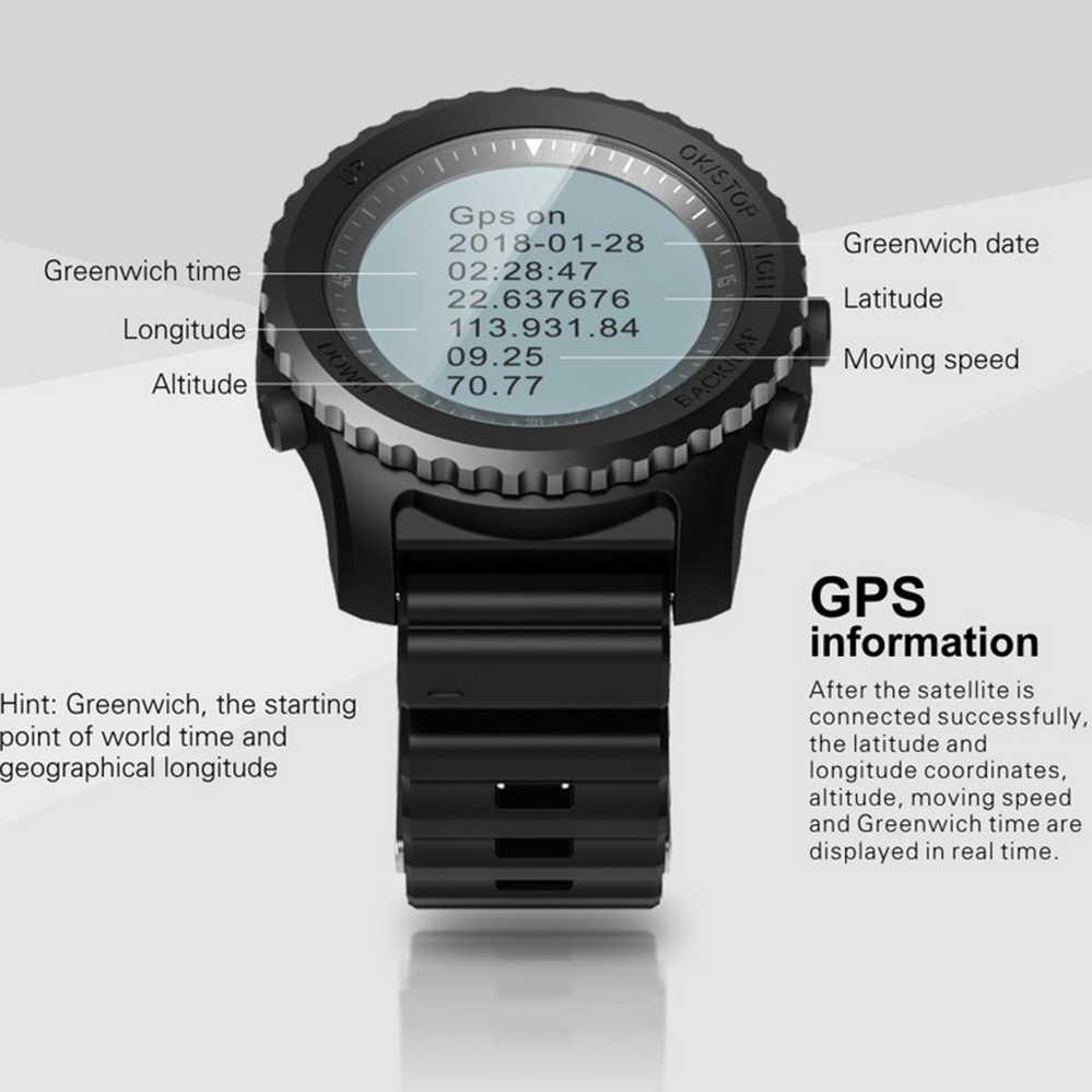 9089381128ae ... S968 gps Смарт-часы IP68 Водонепроницаемый Дайвинг Smartwatch  динамический монитор сердечного ритма мульти-спорт ...