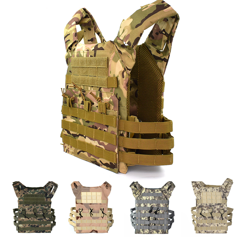 JPC Simple Version Military Army Plate Carrier Vest Airsoft Sport Hunting Body Armor Camouflage Tactical