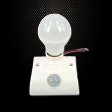 Body Infrared IR Sensor LED Bulb Light Base Automatic PIR Motion Detector Wall Lamp 80W Holder Socket AC170V-250V