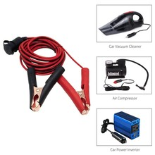 12V 24V Car Cigarette Lighter Socket Female Adapter Alligator Clips Battery Clip-on Extension Cord