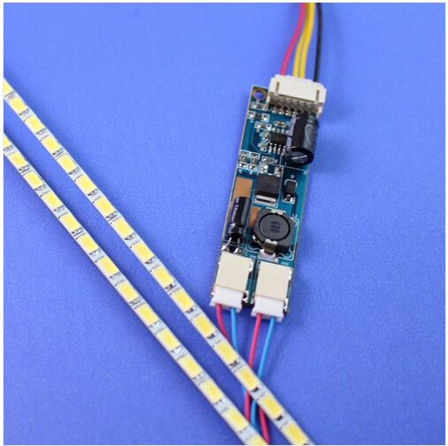 15 inch LED Backlight Lamps Update Kit for LCD Monitor TV Panel Double LED Strips Driverboard