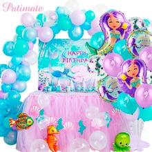 PATIMATE Mermaid Balloons Decoration Birthday Party Decorations Kids Ballon Baby Shower