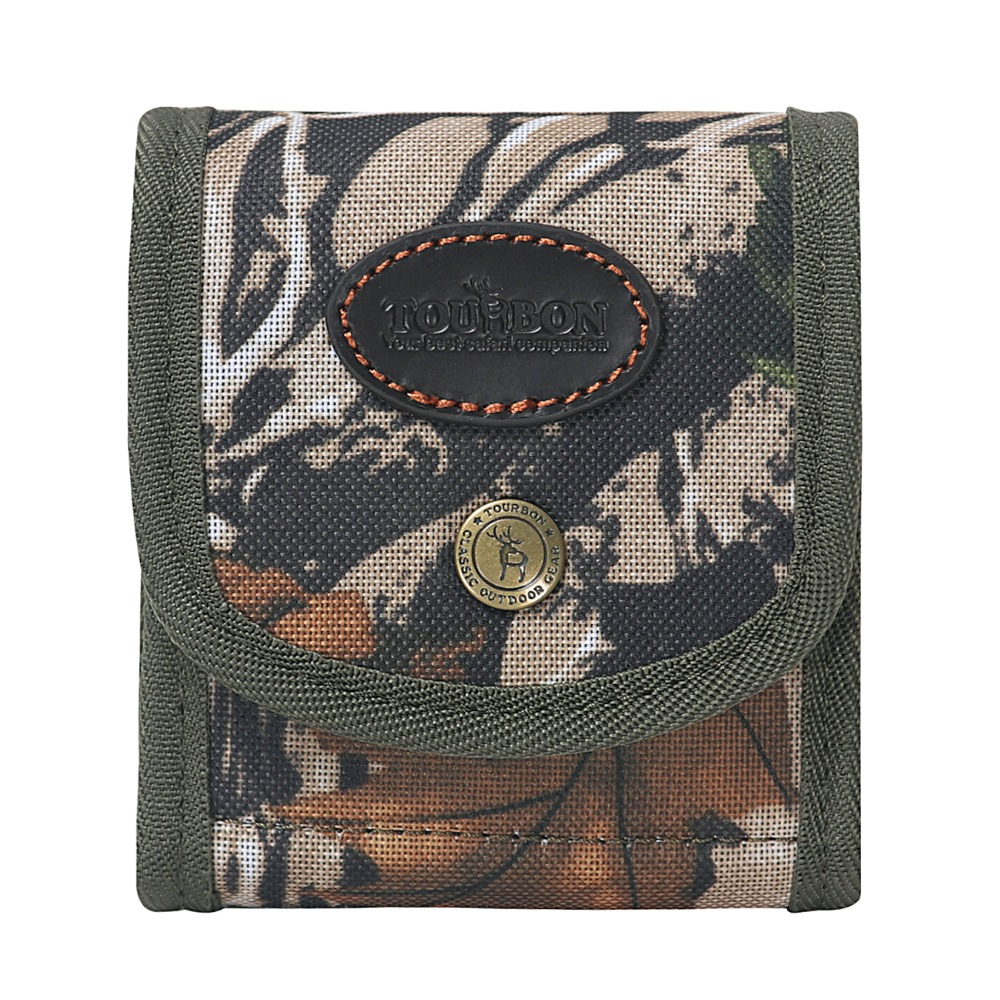 Tourbon Hunting Camouflage Tactical Rifle Cartridge Holder Wallet Clip Ammo Shells Bullet Pouch Ammunition Clip