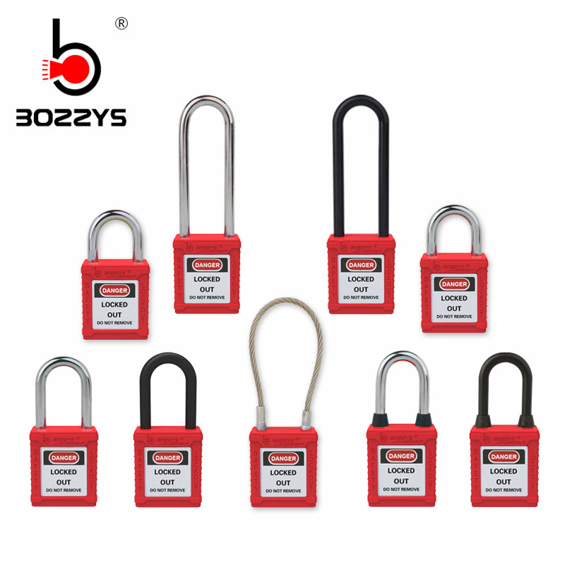 Industrial safety padlock Lock hanging safety lock Steel locking Long beam Nylon Industrial lock unique key or same key Замок