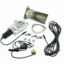 Exhaust Cutout Manually-Control Electric Stainless SPEEDWOW with Be-Cut-Pipe Cut-Out-Kit