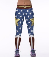 Robotic Digital Printing Tight Fitting Pants Women S Stretch Pants Superman Fitness Woman Was Thin Tights