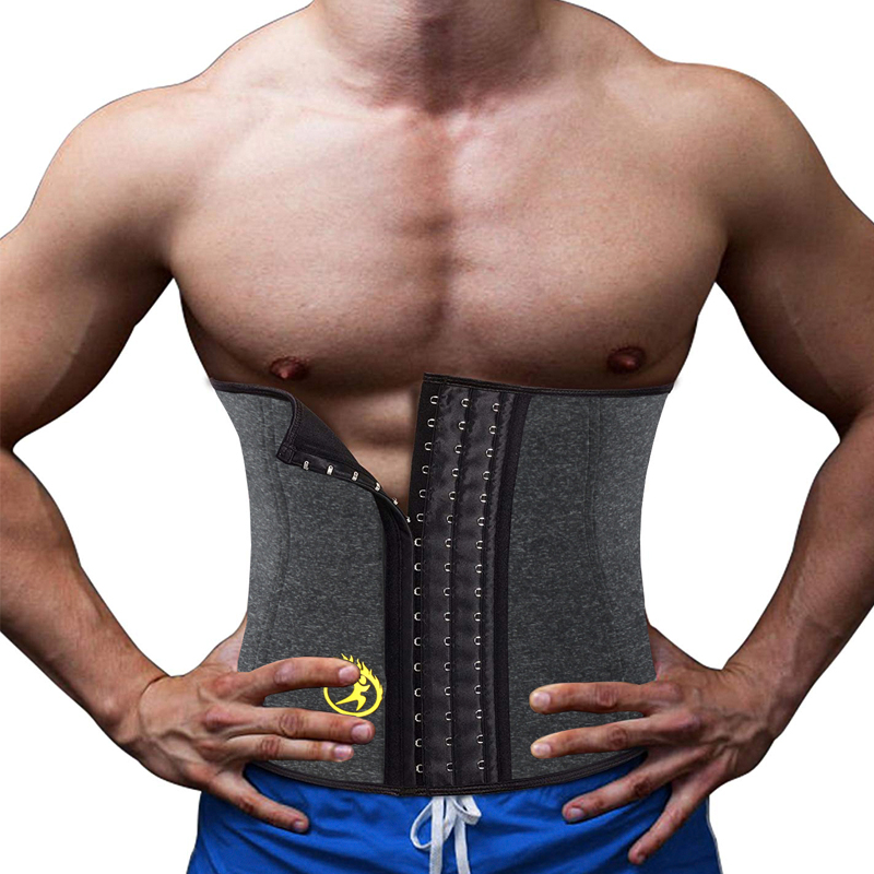 NINGMI Neoprene Hot Shaper Male Waist Trainer Cincher Corset Men Body Modeling Belt Tummy Slimming Strap Fitness Sweat Shapewear