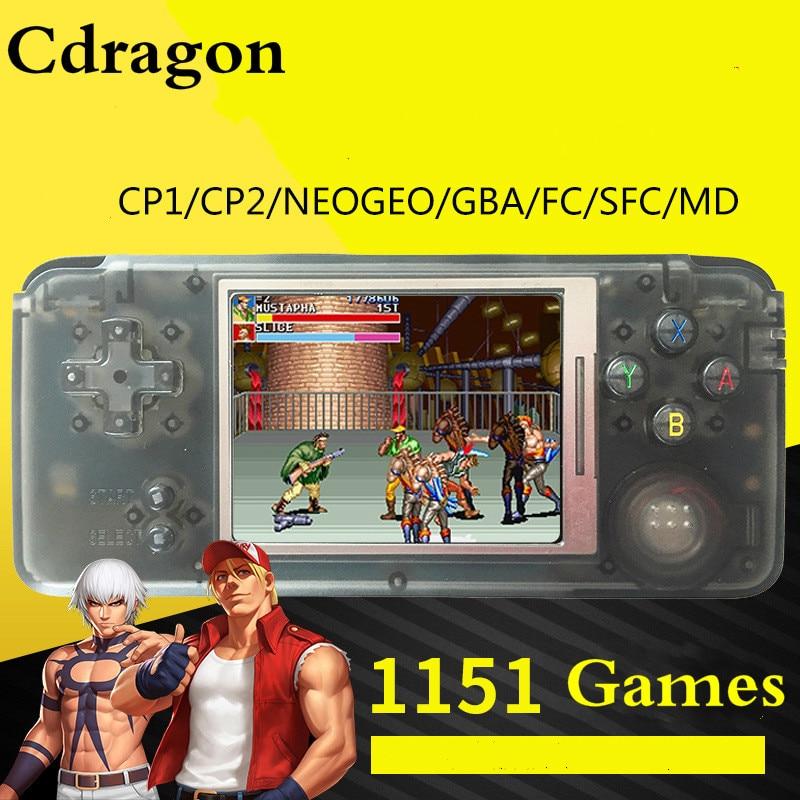 Cdragon juego retro consola portátil 10 juegos 1151 juegos 3 - Juegos y accesorios