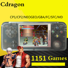 Cdragon game retro konsol genggam 10 playforms 1151 game layar 3 inci pengiriman gratis
