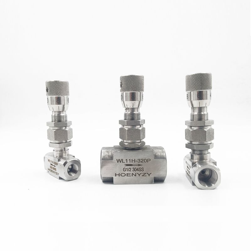 G 1 8 1 4 NPT 1 2 Stainless Steel 304 Needle Valve PN16 Micro Adjustment