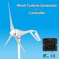 S Type 12V/24V 400W 3 Blades Wind Generator Auto Adjust Horizontal Wind Turbine Generator Wind Power Generator With Controller