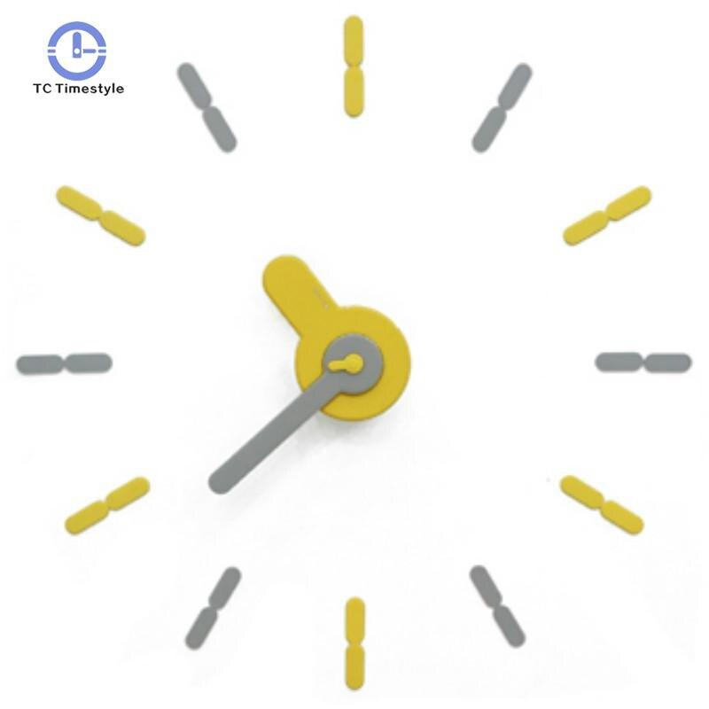 Creative nordique horloge murale muet Stickers muraux décoration de la maison accessoires moderne nouveauté bricolage montres silencieuses