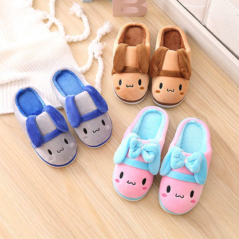 New Children Warm winter Cotton Slippers Kids Cartoon Chicken Home Furnishing font b Shoes b font