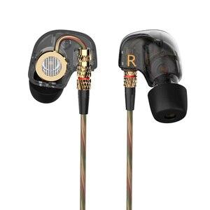 Image 3 - KZ ATE 1DD الديناميكي سائق HiFi سماعات رياضة إلغاء الضوضاء في الأذن رصد سماعات للألعاب مع ميكروفون شفاف