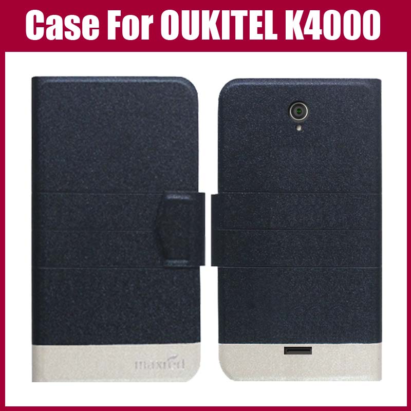Žhavá sleva! Pouzdro OUKITEL K4000 Nový příchod 5 barev Módní Flip Ultra tenký kožený ochranný obal pro pouzdro OUKITEL K4000