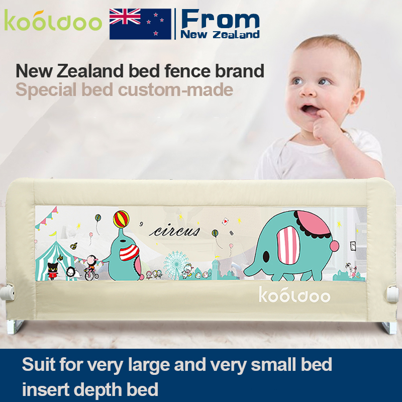 kooldoo custom made 1.2-2.2 m bed fence suit many small or pretty big bed protect baby trail цены онлайн