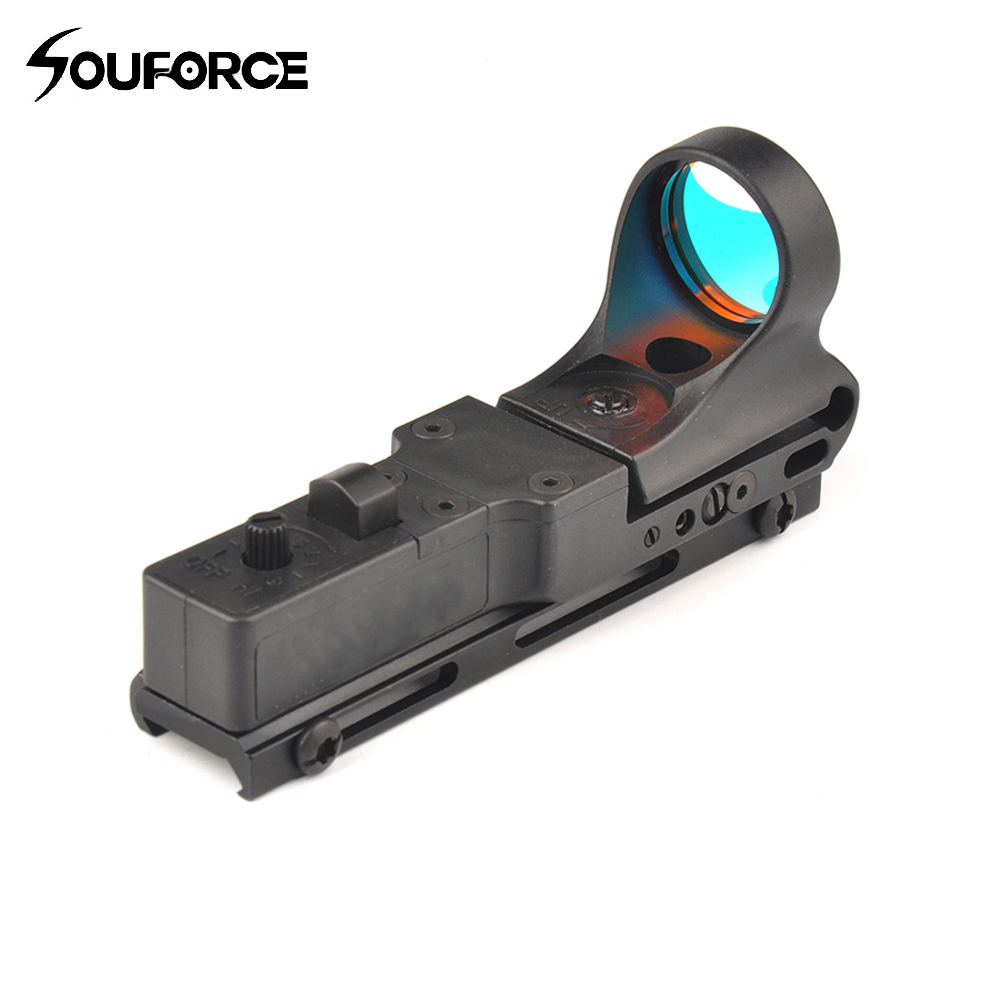 Tactical Red Dot Scope Red Dot Sight Black Railway Reflex Optics Sight with Scope Protector for Hunting c more style red dot sight railway reflex for ris rail 4 color options free shipping