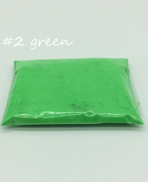 Brillante bajo las luces ultravioleta) 10gr color verde fluorescente ...