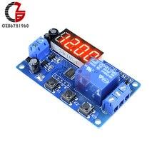Релейный модуль с задержкой обратного отсчета времени постоянного тока 12 В светодиодный цифровой таймер переключатель управления PLC реле времени модуль анти обратного напряжения регулятор