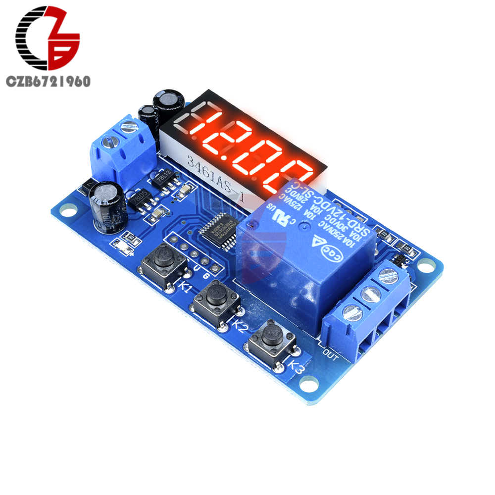 Detail Feedback Questions About Countdown Time Delay Relay Module Dc Timer Switch Circuit 12v Led Digital Control Plc Timing