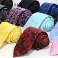 Alta Qualidade Mais Novo Poliéster Tecido Floral laços para homens Moda Homem Clássico do Noivo gravata para o Casamento 7 cm de Largura empate