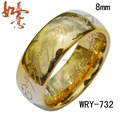 Free Shipping Real Lord Of The Ring Gold Tungsten ring 8mm Width