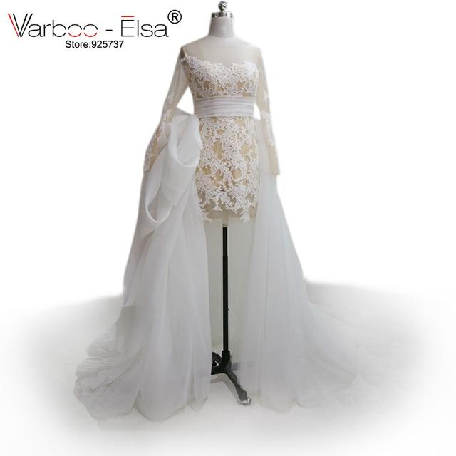 Vestido novia corto y largo