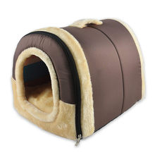 soft warm dog houses bedding big doghouse dogs live cave couch crate cushion sleeping dog beds for small medium large dog(China)