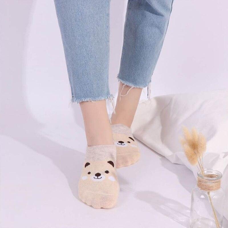 Новый для женщин Цвет узор животных мультфильм костюм летние дышащие Повседневные носки следки