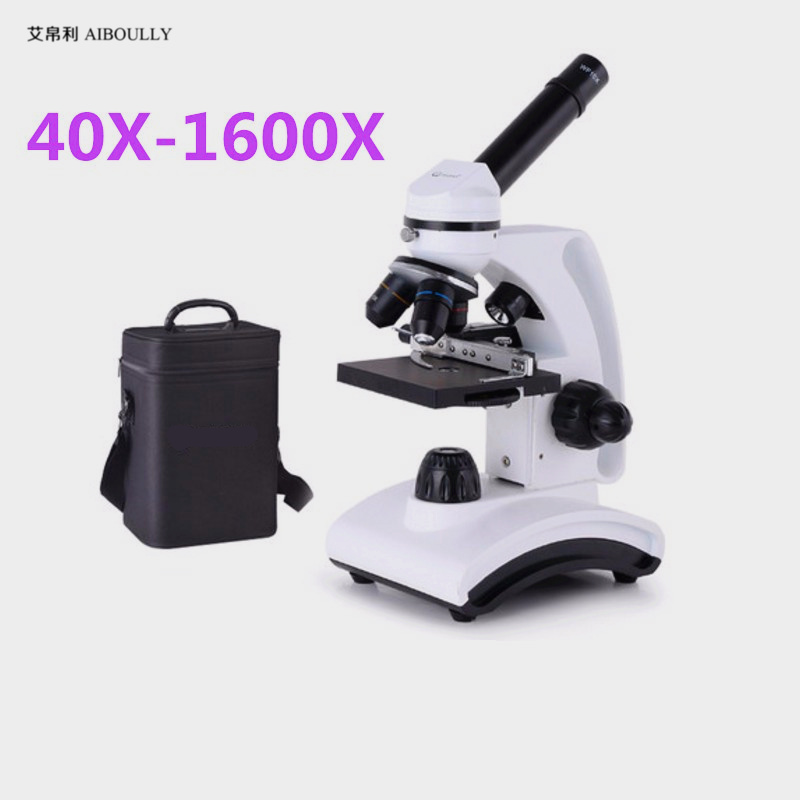 AIBOULLY XSP 16 Handheld Biological Microscope Zoom in 40X 1600X Animal Blood Plant Cell Semen Test