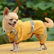 Водонепроницаемая одежда для собак для маленьких собак Pet Дождевик куртка непромокаемый плащ для Собаки Одежда для Йорка Чихуахуа Одежда, товары для домашних животных 30S2