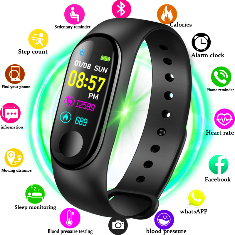 2019 New Women Sport Waterproof Smartwatch Blood Pressure Heart Rate Monitor Smart Watch Men Fitness Tracker Pedometer Watch M32019 New Women Sport Waterproof Smartwatch Blood Pressure Heart Rate Monitor Smart Watch Men Fitness Tracker Pedometer Watch M3