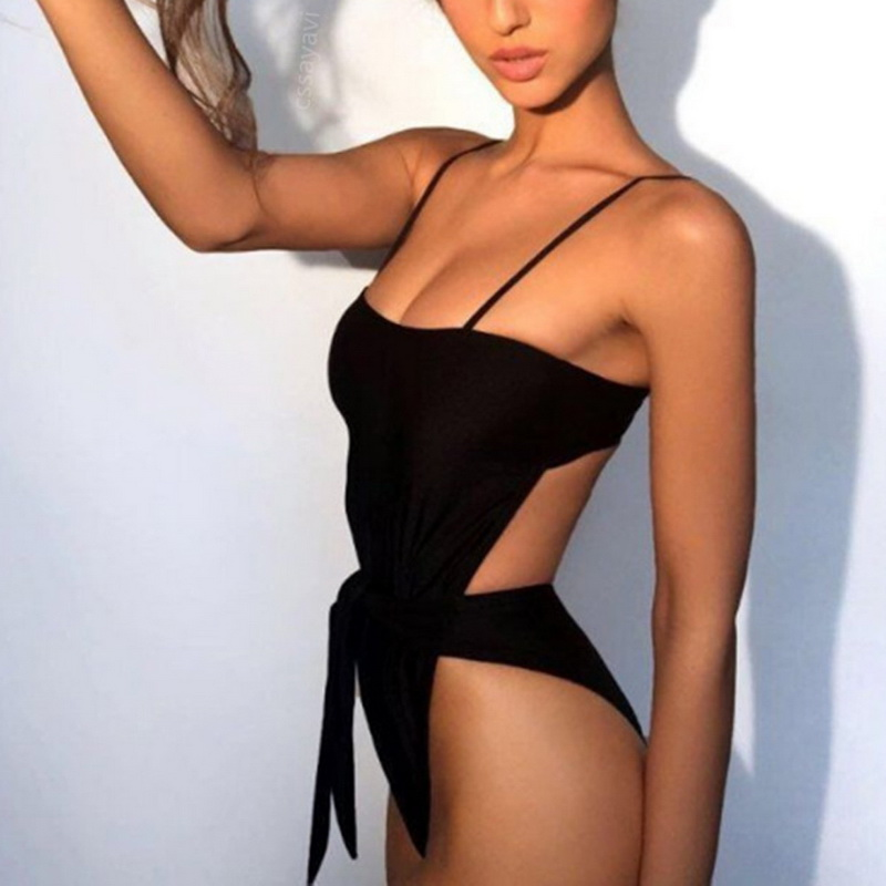 Vertvie One-Piece Suits Women Sexy Bikinis Push Up Solid Swimwear Summer Swimsuits Brazilian biquinis feminino 2018 Swimming New