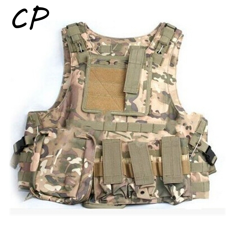 Quick Release Military Modular Molle CIRAS Tactical Assault Vest Airsoft Combat Hunting Vests Includes Mag Pouch Acessory Bag CP accessories bag quick tug tactical vest accessory box page 4
