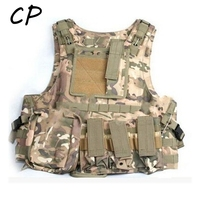 Quick Release Military Modular Molle CIRAS Tactical Assault Vest Airsoft Combat Hunting Vests Includes Mag Pouch Acessory Bag CP