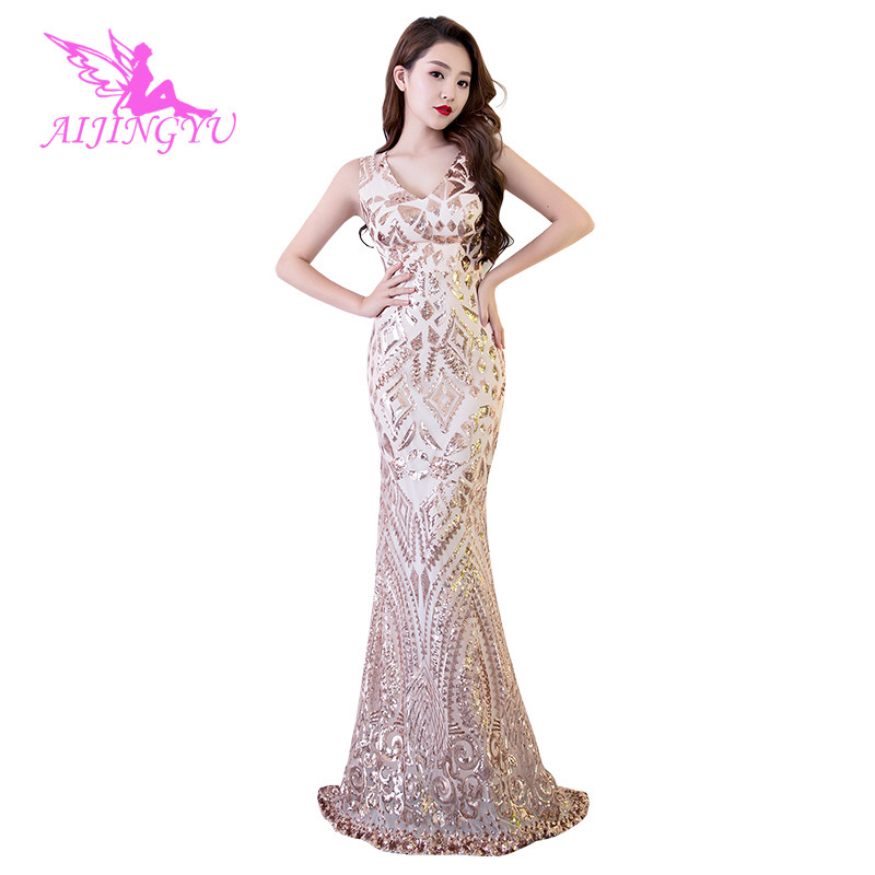 Aijingyu Plus Size Evening Dress Party Sexy Gown 2018 Women Elegant